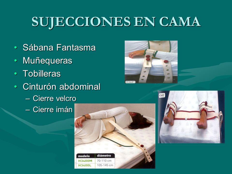 SUJECCIONES EN CAMA Sábana Fantasma Muñequeras Tobilleras