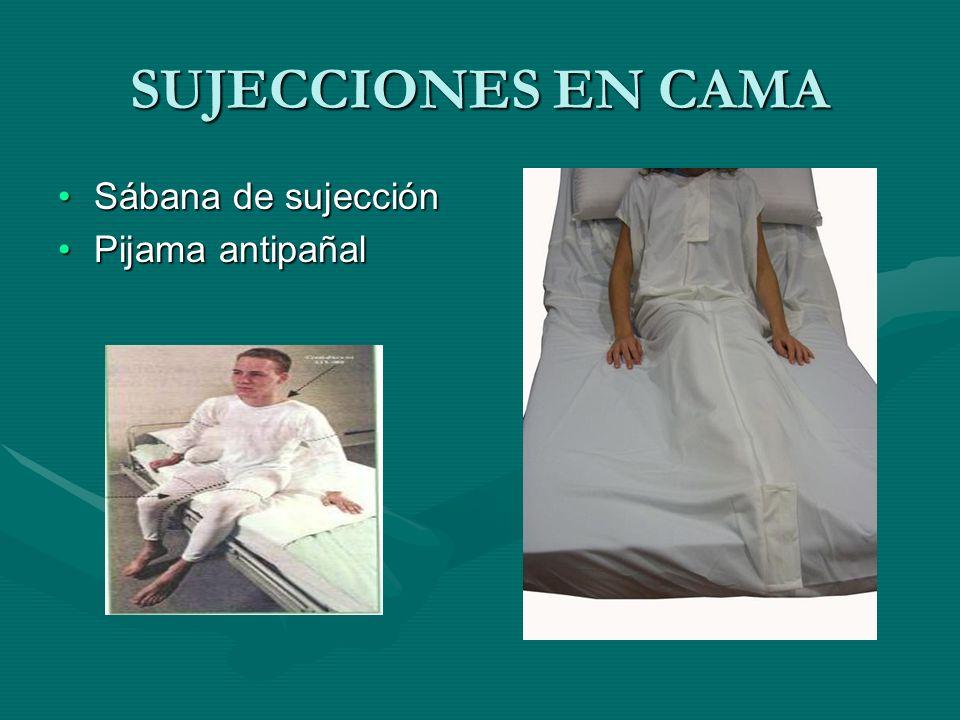 SUJECCIONES EN CAMA Sábana de sujección Pijama antipañal