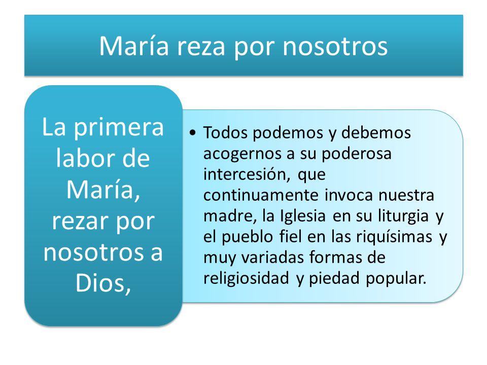 María reza por nosotros