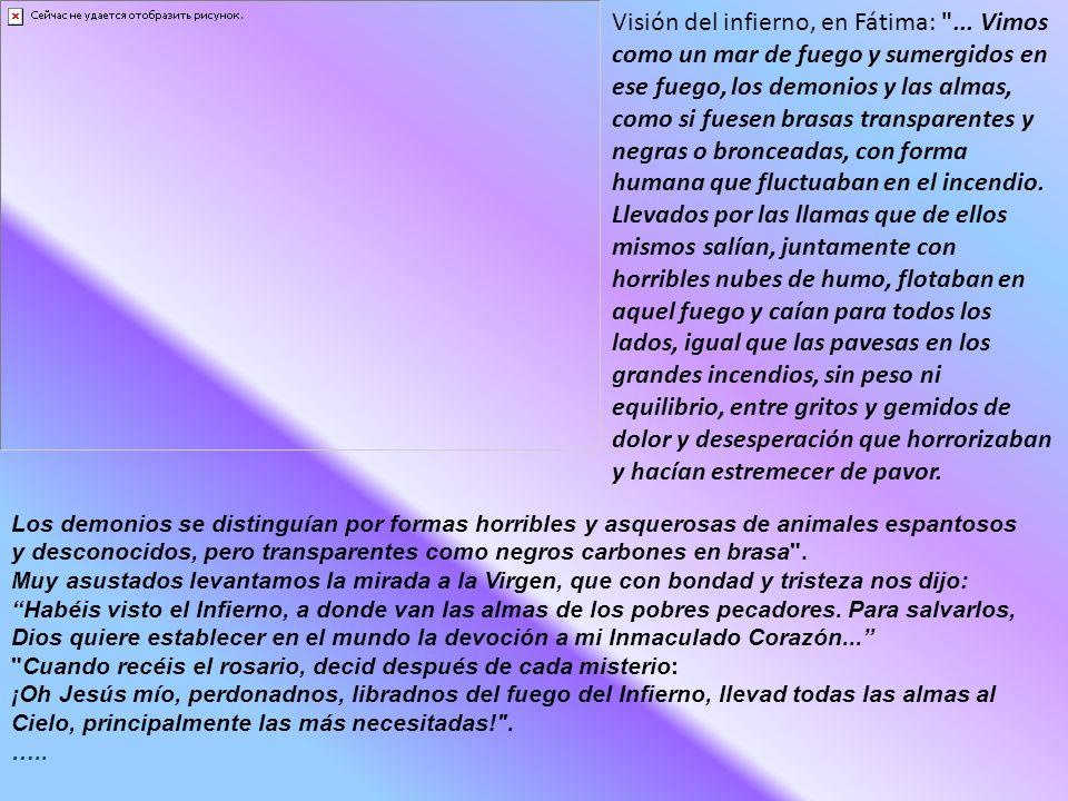Visión del infierno, en Fátima: