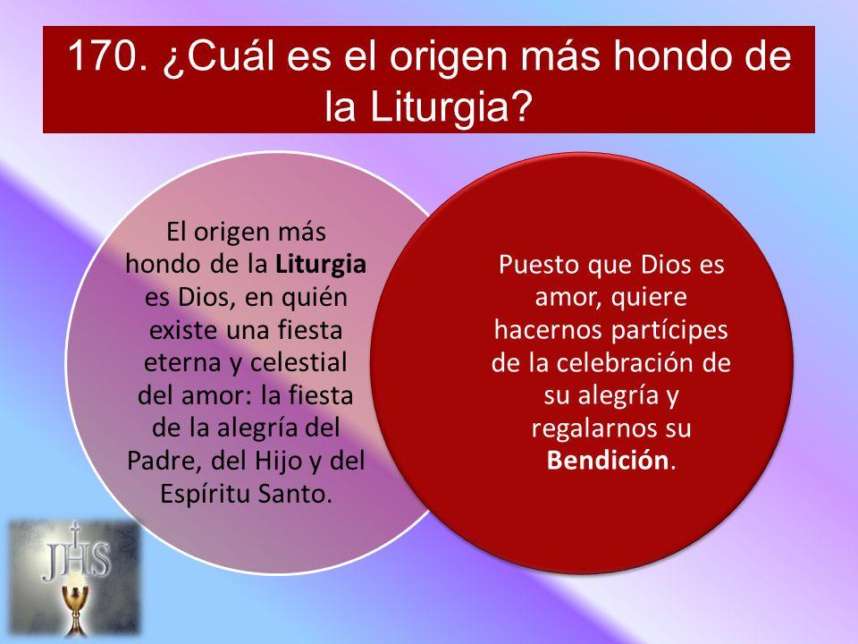 170. ¿Cuál es el origen más hondo de la Liturgia