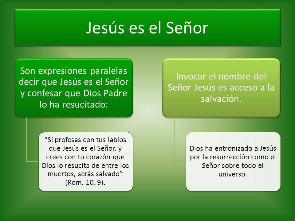 Invocar el nombre del Señor Jesús es acceso a la salvación.