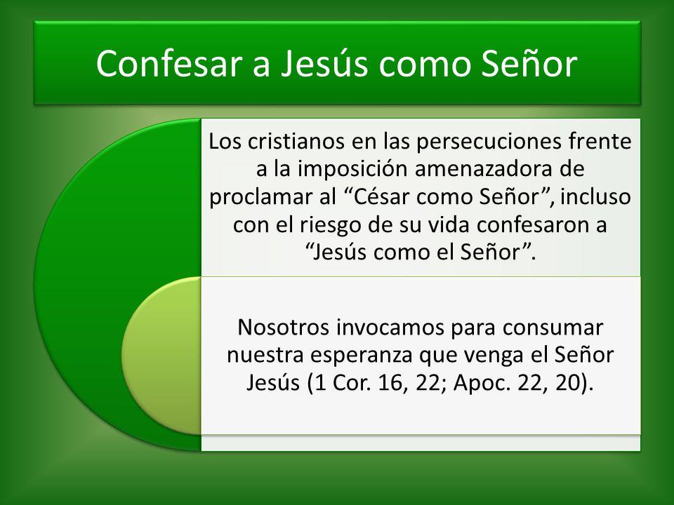 Confesar a Jesús como Señor