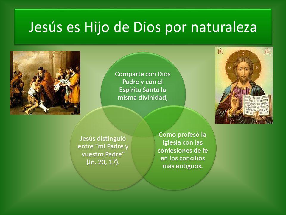 Jesús es Hijo de Dios por naturaleza