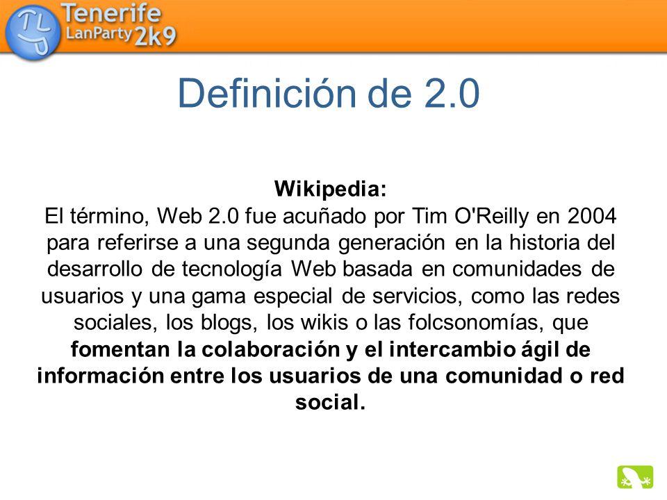Definición de 2.0 Wikipedia: