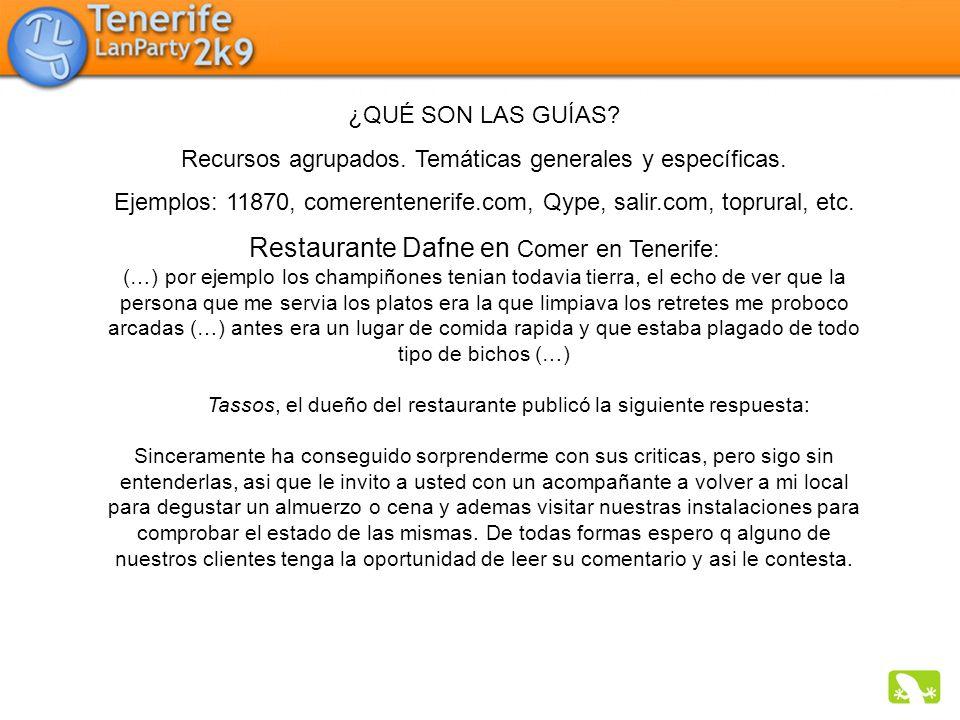 Restaurante Dafne en Comer en Tenerife: