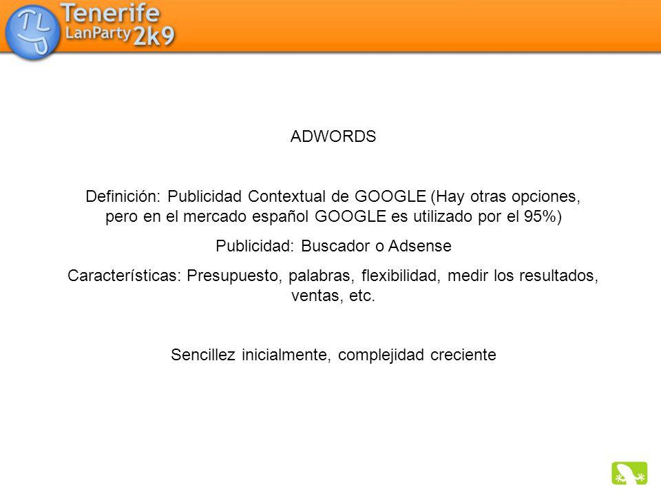 Publicidad: Buscador o Adsense