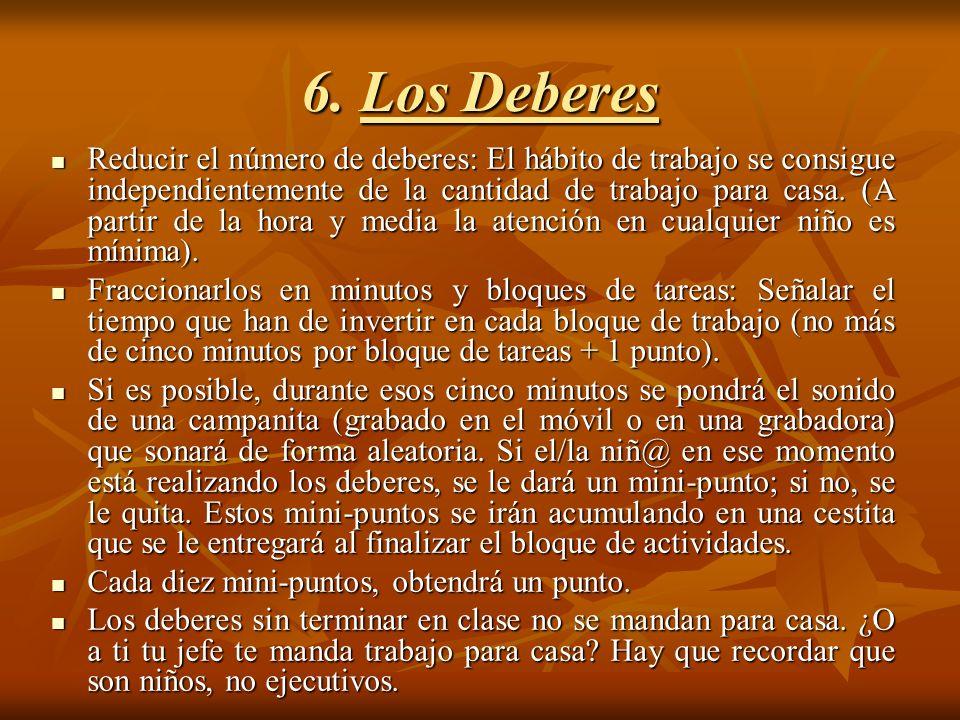 6. Los Deberes