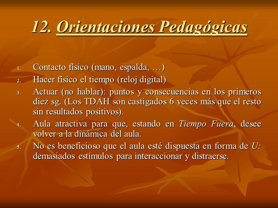 12. Orientaciones Pedagógicas