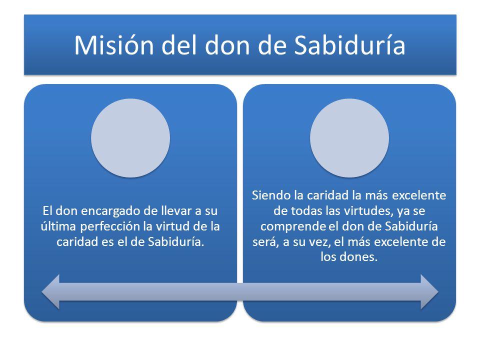 Misión del don de Sabiduría
