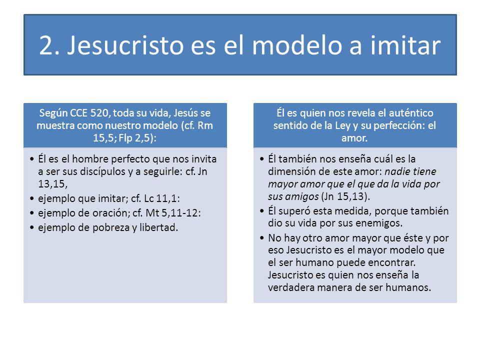 2. Jesucristo es el modelo a imitar