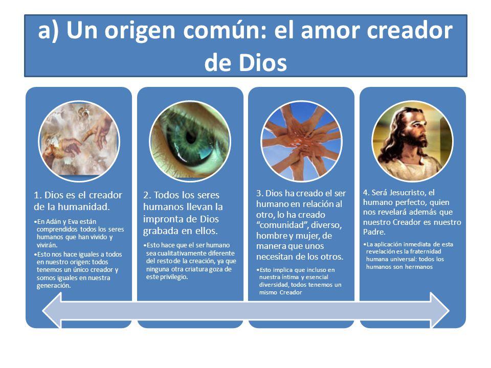a) Un origen común: el amor creador de Dios