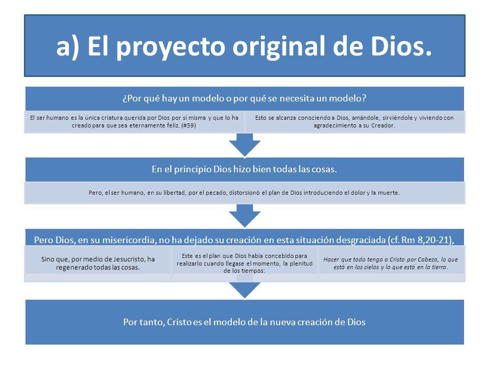 a) El proyecto original de Dios.