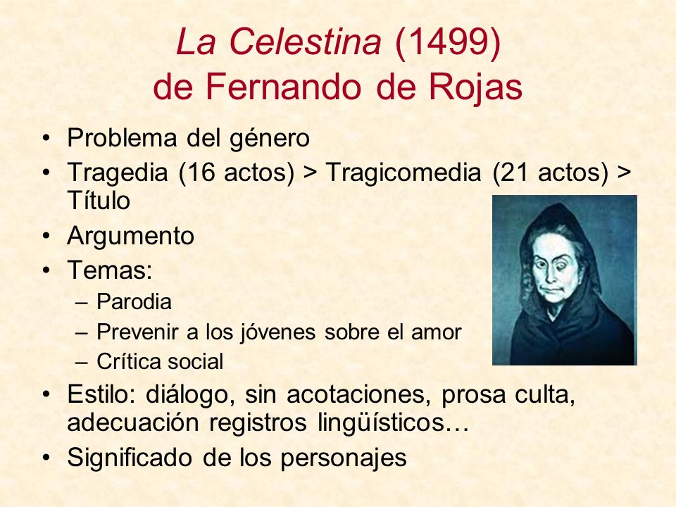 La Celestina (1499) de Fernando de Rojas