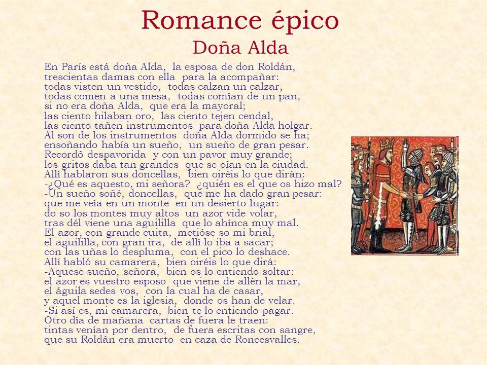 Romance épico Doña Alda