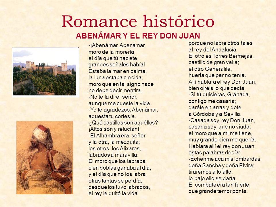 Romance histórico ABENÁMAR Y EL REY DON JUAN
