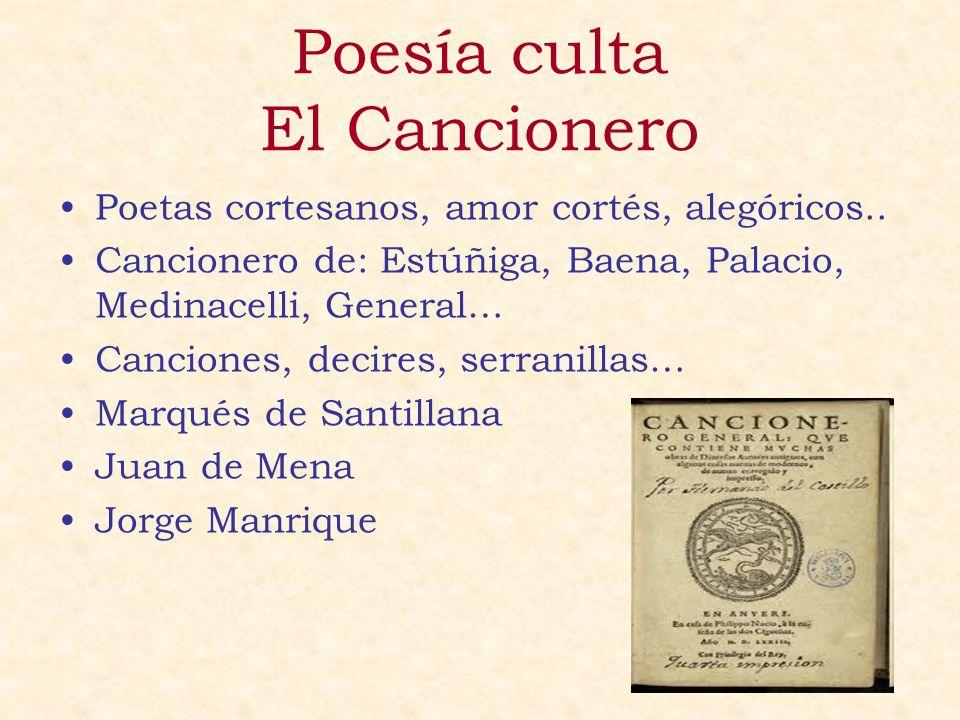 Poesía culta El Cancionero