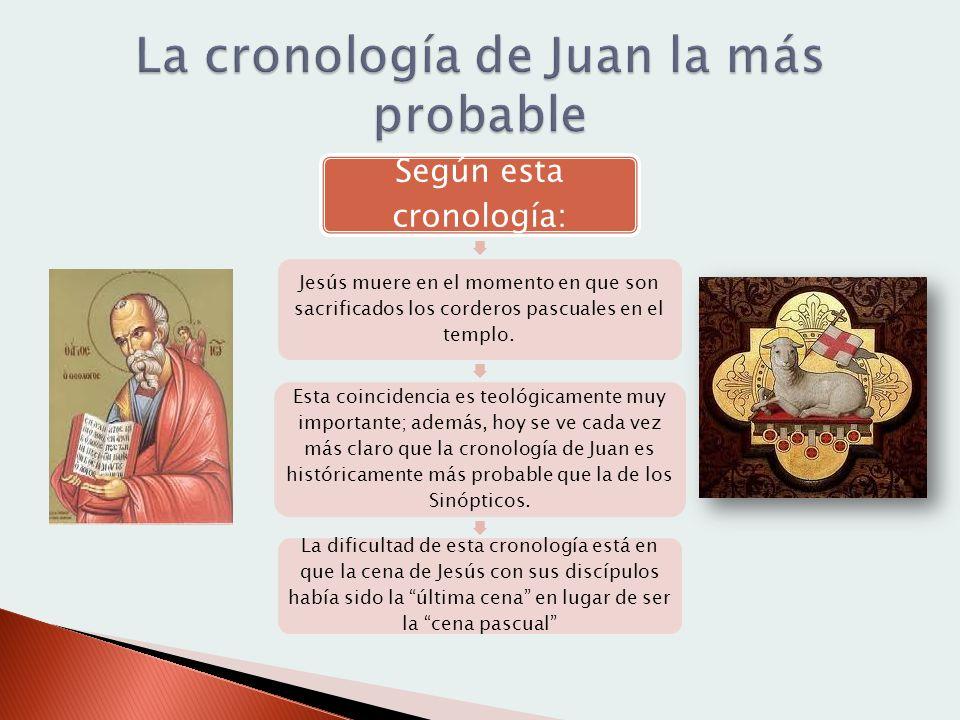 La cronología de Juan la más probable