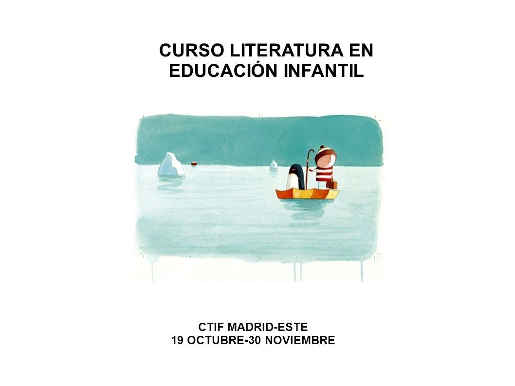CURSO LITERATURA EN EDUCACIÓN INFANTIL