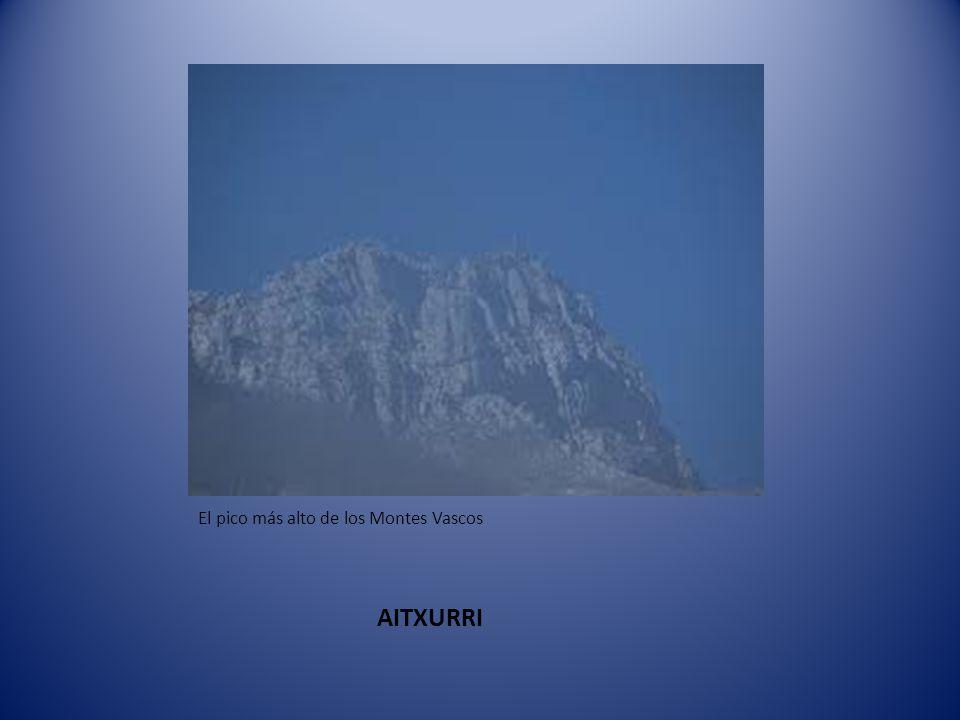 El pico más alto de los Montes Vascos