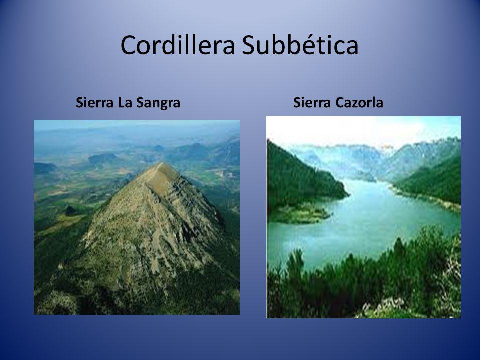 Cordillera Subbética Sierra La Sangra Sierra Cazorla