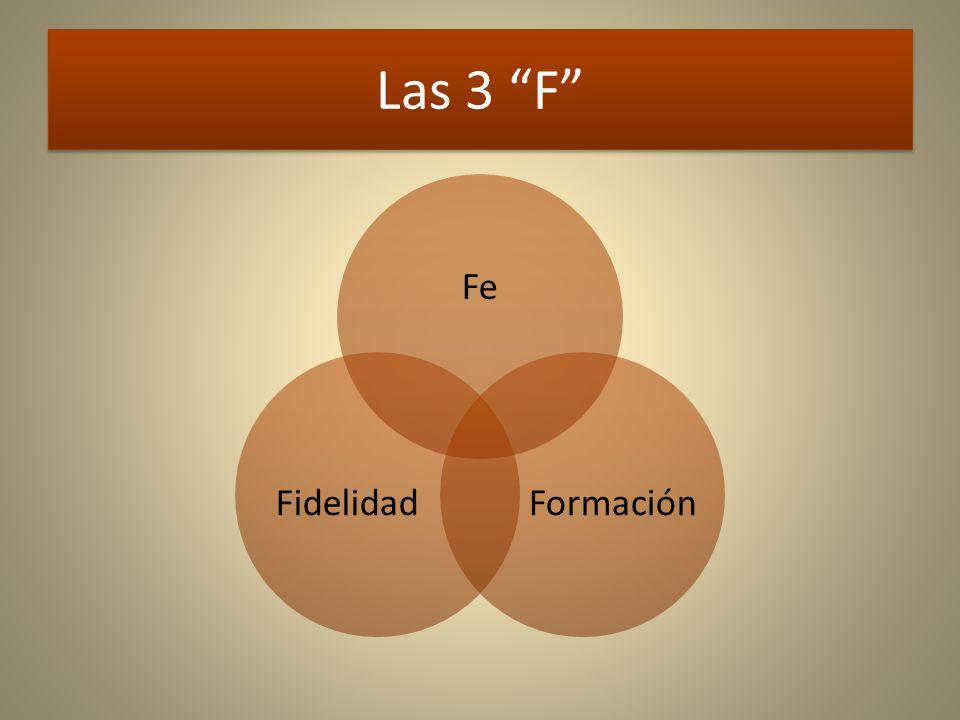 Las 3 F Fe Formación Fidelidad