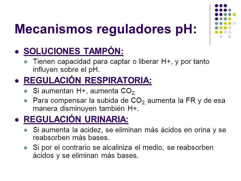Mecanismos reguladores pH: