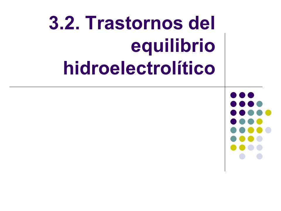 3.2. Trastornos del equilibrio hidroelectrolítico