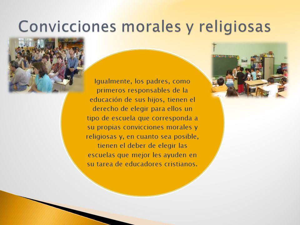 Convicciones morales y religiosas