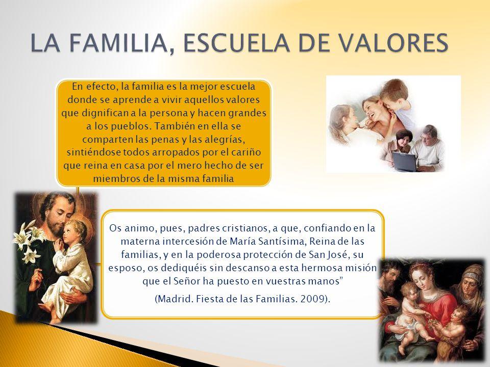 LA FAMILIA, ESCUELA DE VALORES
