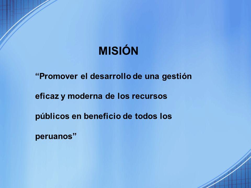 MISIÓN Promover el desarrollo de una gestión