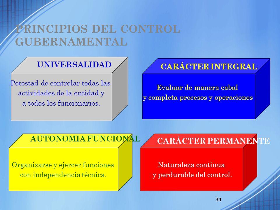 PRINCIPIOS DEL CONTROL GUBERNAMENTAL