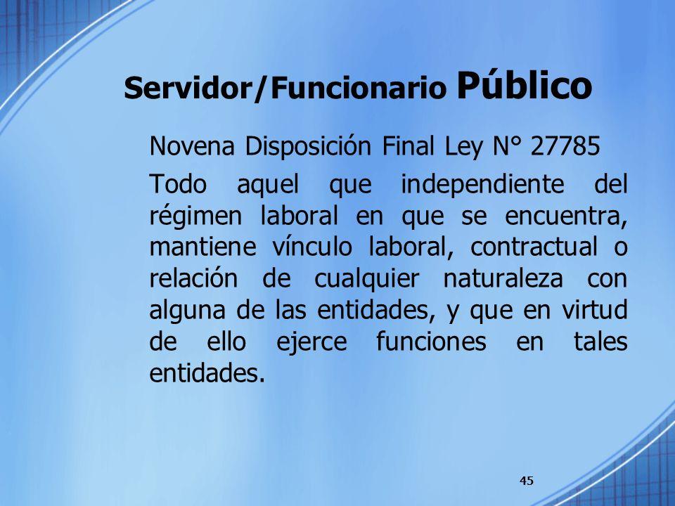 Servidor/Funcionario Público