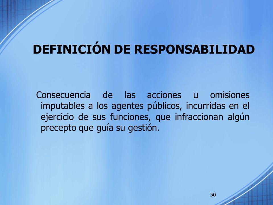DEFINICIÓN DE RESPONSABILIDAD