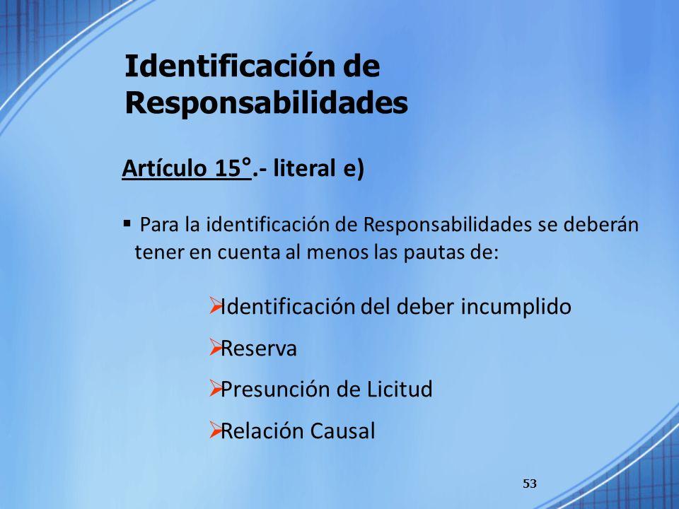 Identificación de Responsabilidades