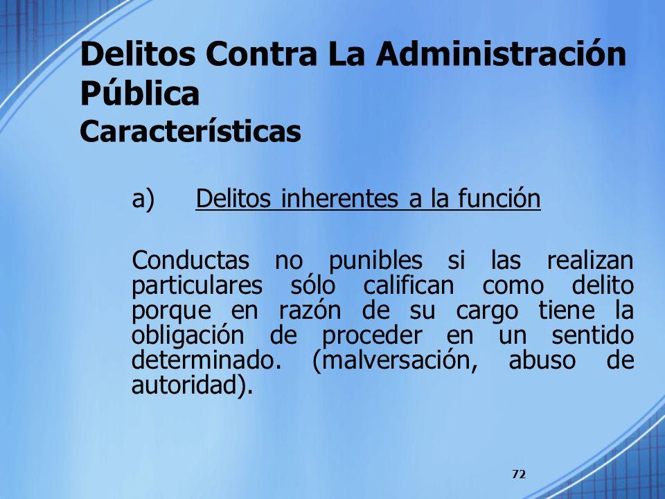 Delitos Contra La Administración Pública Características