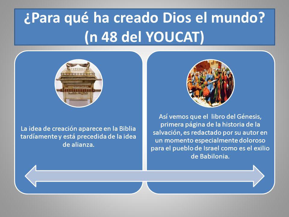 ¿Para qué ha creado Dios el mundo (n 48 del YOUCAT)