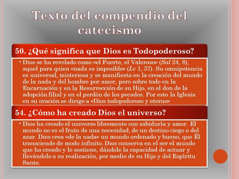Texto del compendio del catecismo