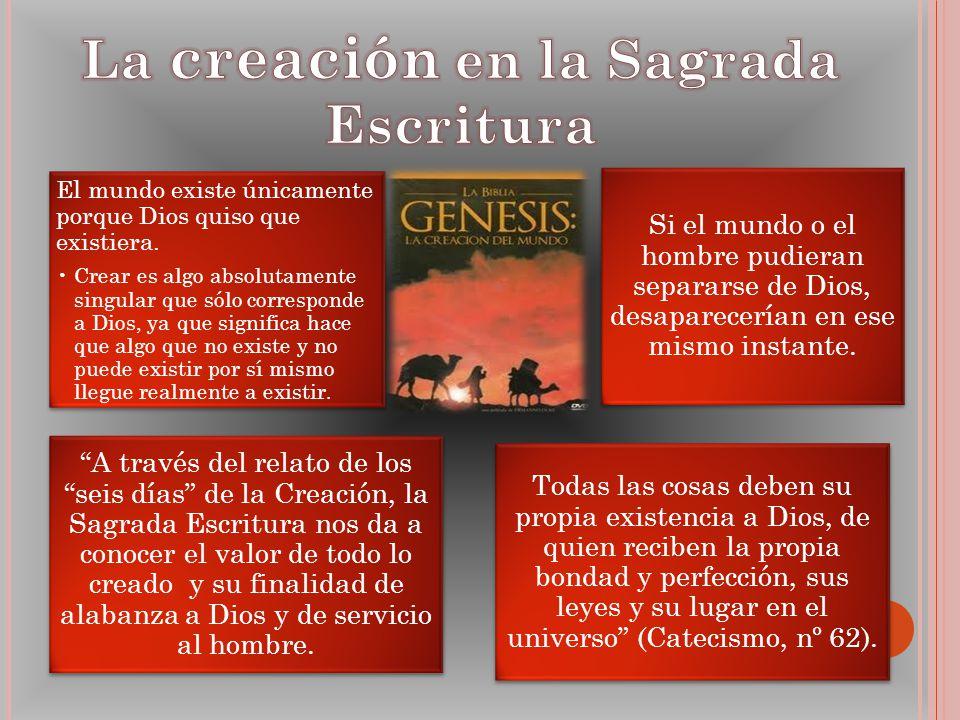 La creación en la Sagrada Escritura