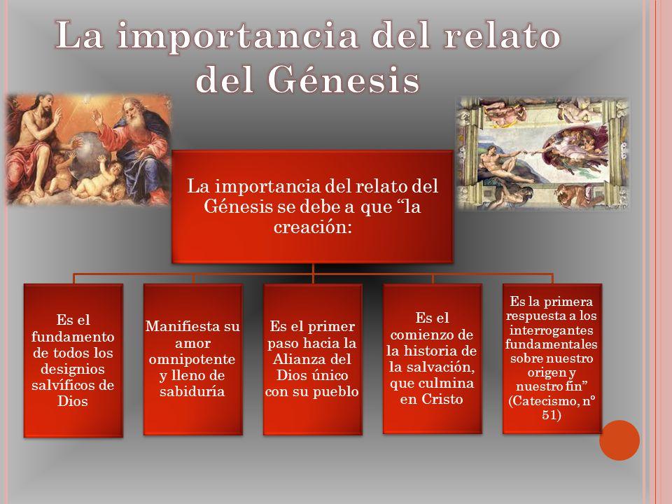La importancia del relato del Génesis