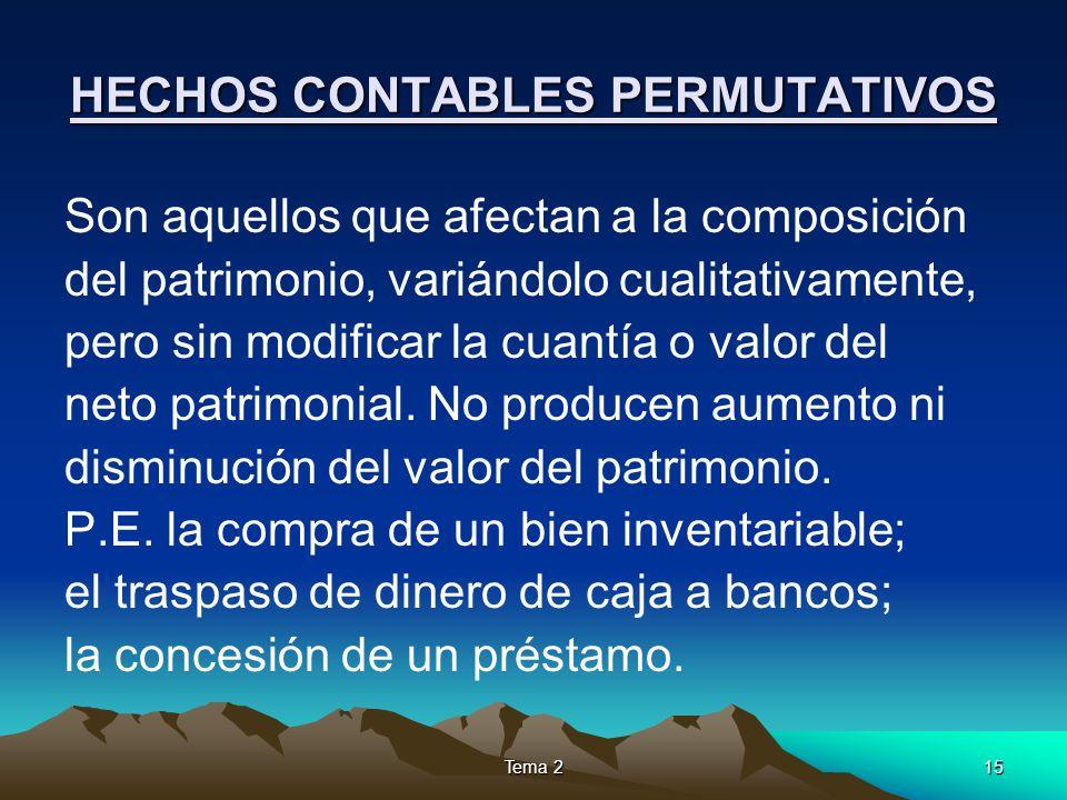 HECHOS CONTABLES PERMUTATIVOS