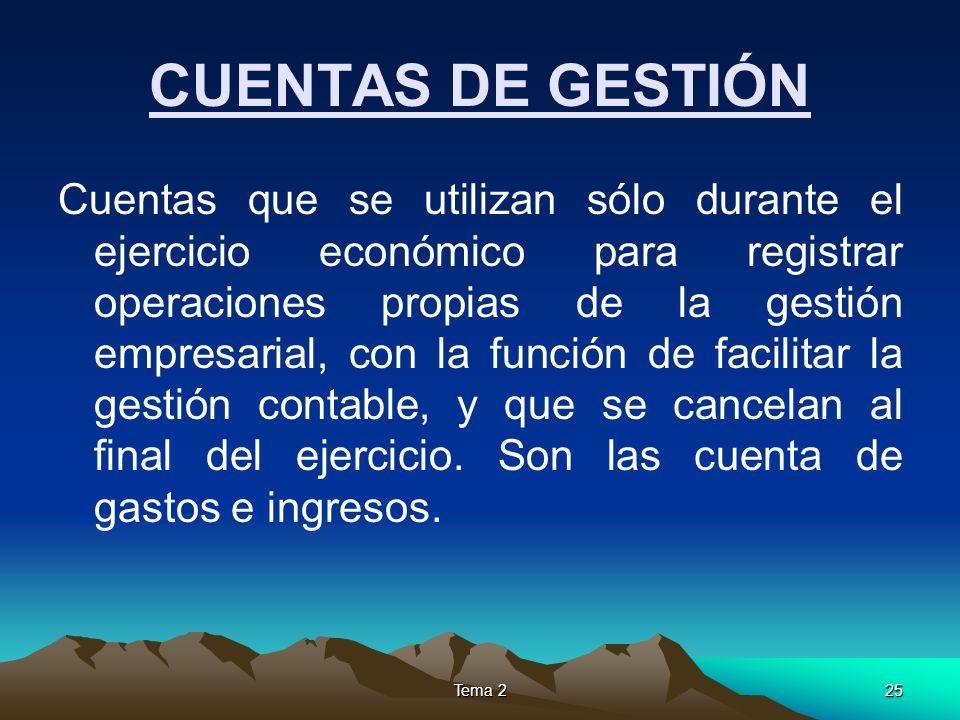 CUENTAS DE GESTIÓN