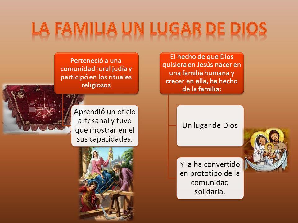 La familia un lugar de Dios