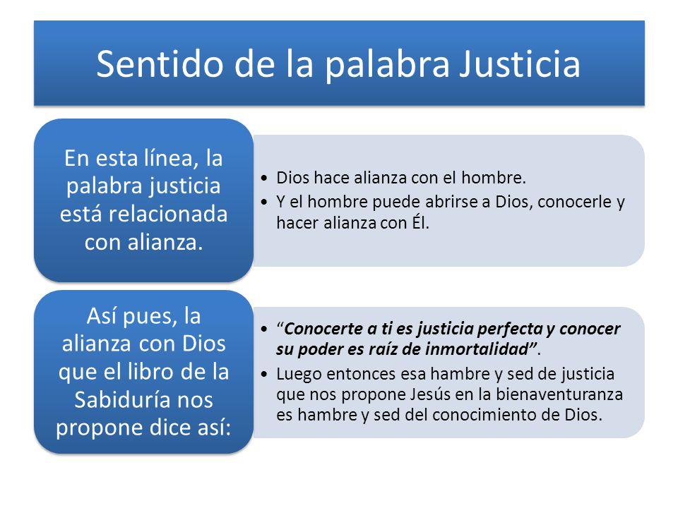 Sentido de la palabra Justicia