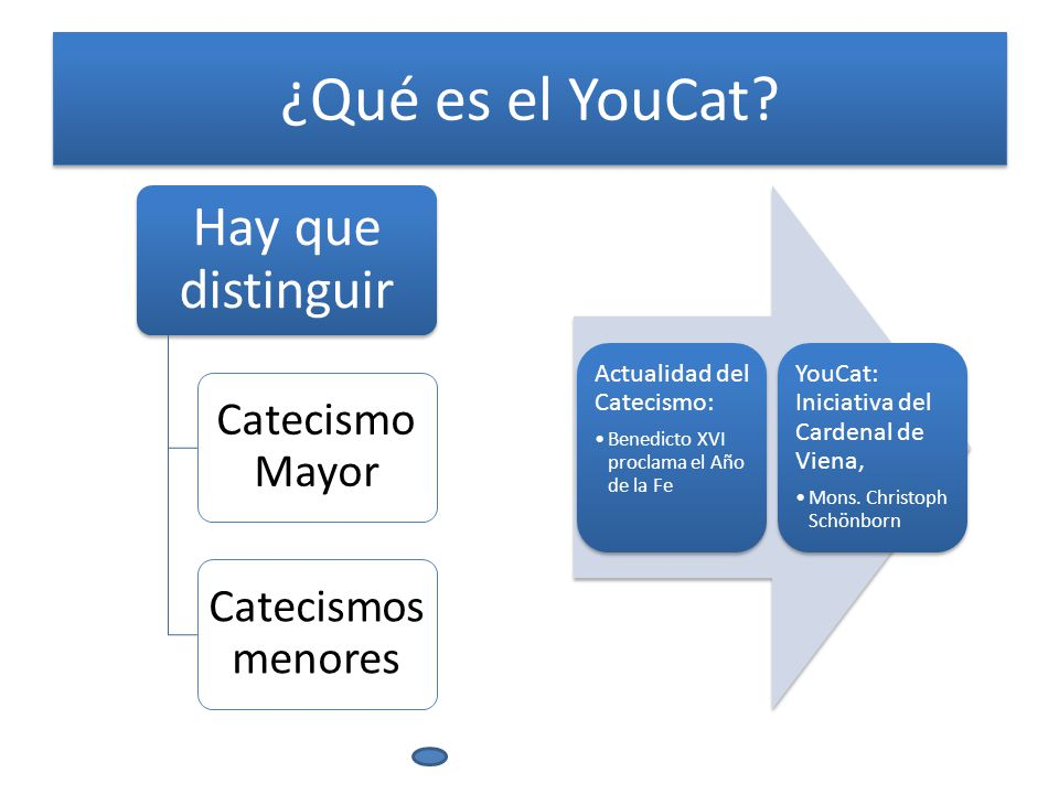 ¿Qué es el YouCat Hay que distinguir Catecismo Mayor