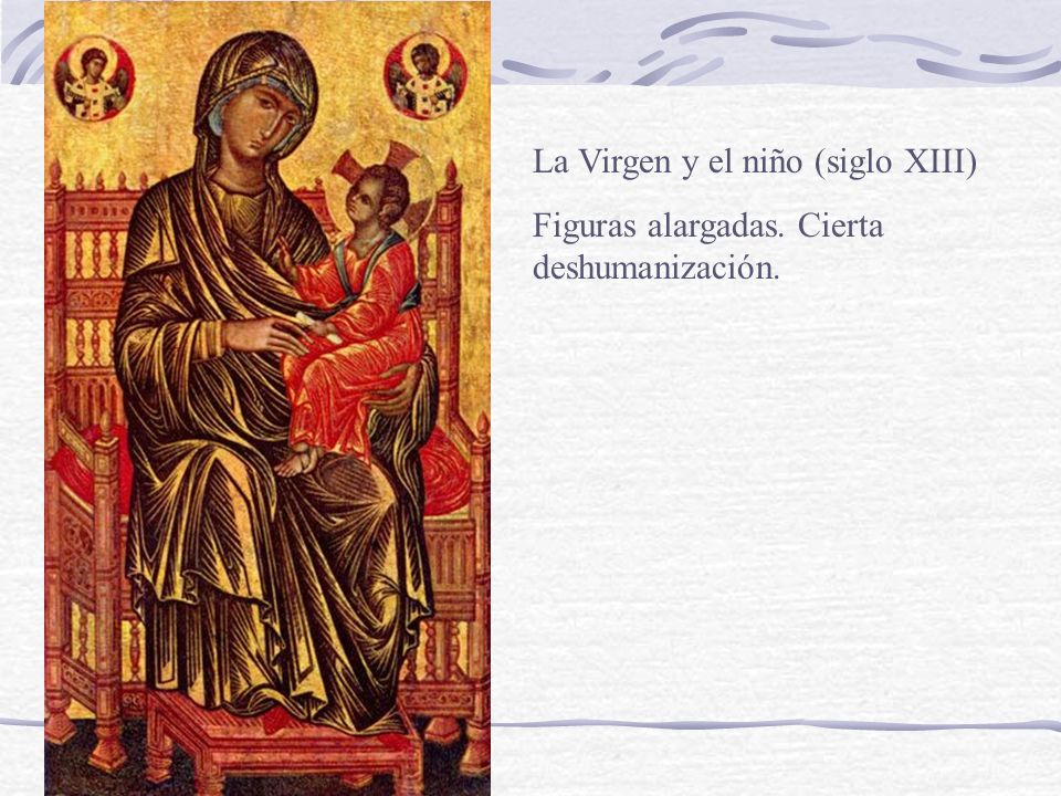 La Virgen y el niño (siglo XIII)