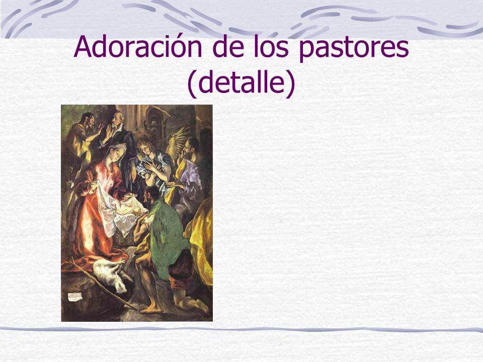 Adoración de los pastores (detalle)
