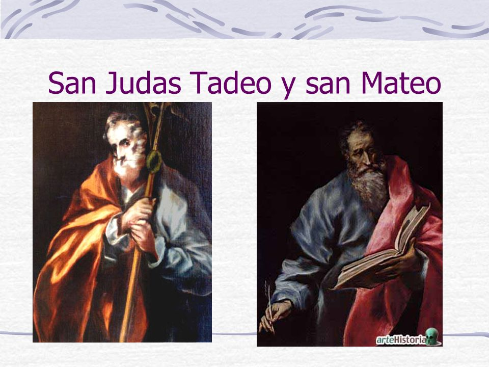 San Judas Tadeo y san Mateo
