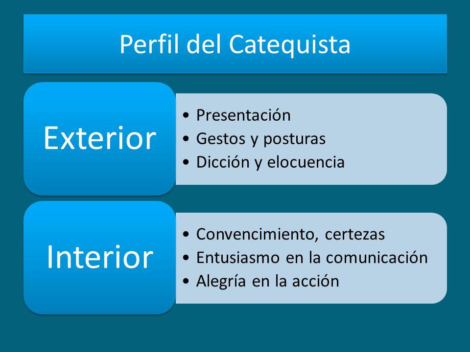 Perfil del Catequista Exterior Presentación Gestos y posturas