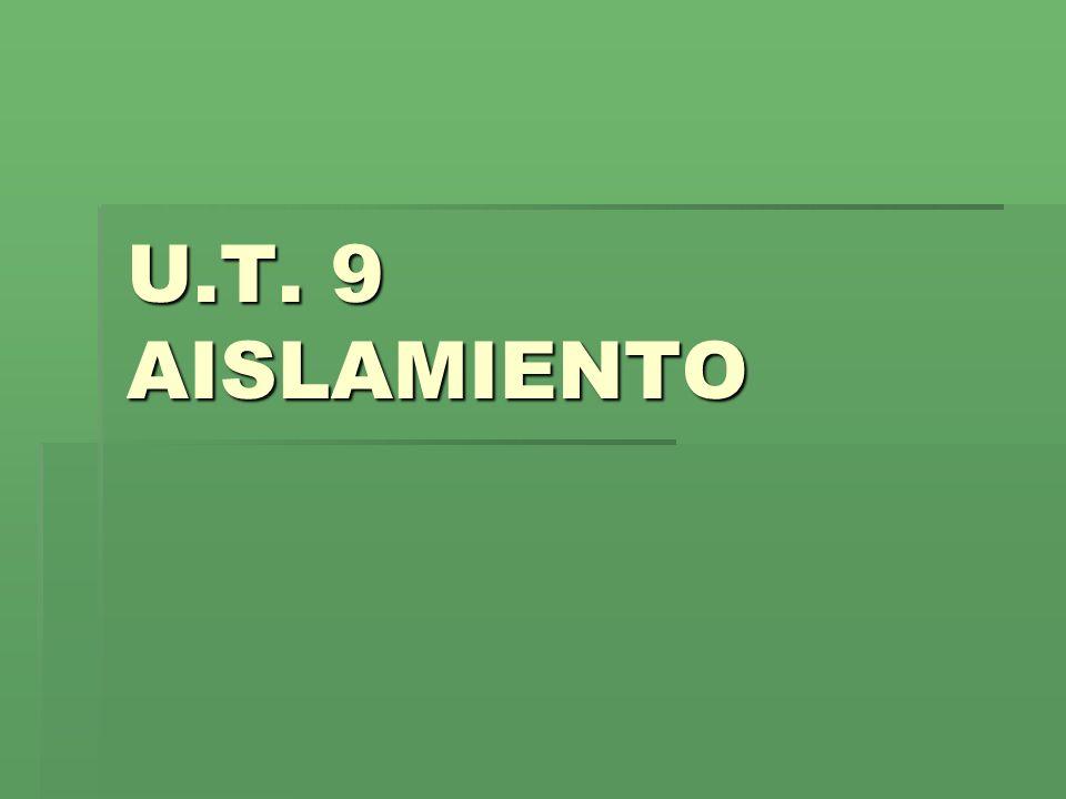 U.T. 9 AISLAMIENTO